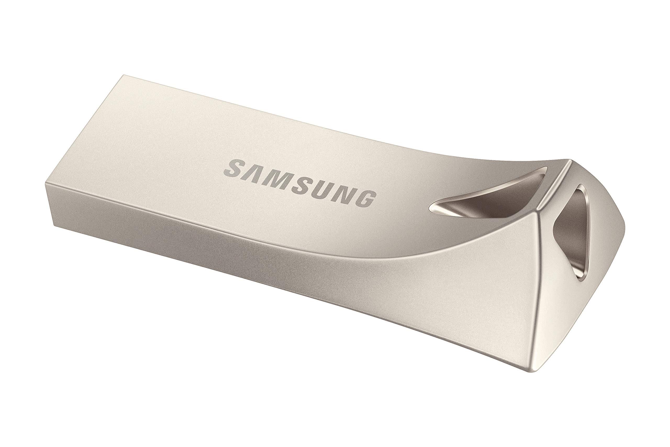 Samsung BAR Plus 256GB - 300MB/s USB 3.1 Flash Drive Champagne Silver (MUF-256BE3/AM) by Samsung