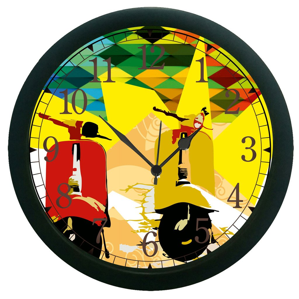12 Hour Round Shape Wall Clock 3D Surface Large Sticker Home Décor ...