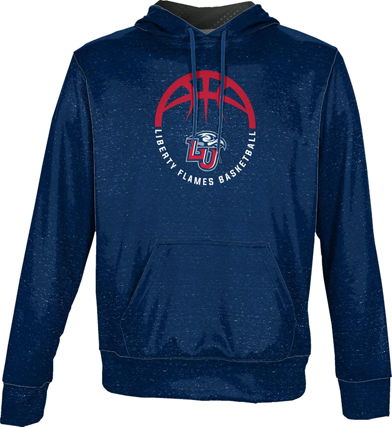 a0a2cd17 Amazon.com: ProSphere Liberty University Basketball Boys' Pullover Hoodie -  Heather Blue and Red: Clothing