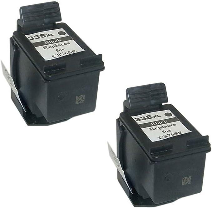 Desconocido Genérico Cartucho de Tinta refabricado para Usar en Lugar de HP 338XL (2X Negro, 2 Pack de): Amazon.es: Electrónica