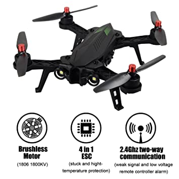 TIME4DEALS MJX B6 Bug 6 1600mkv Brushless Motor FPV Racing Drone ...
