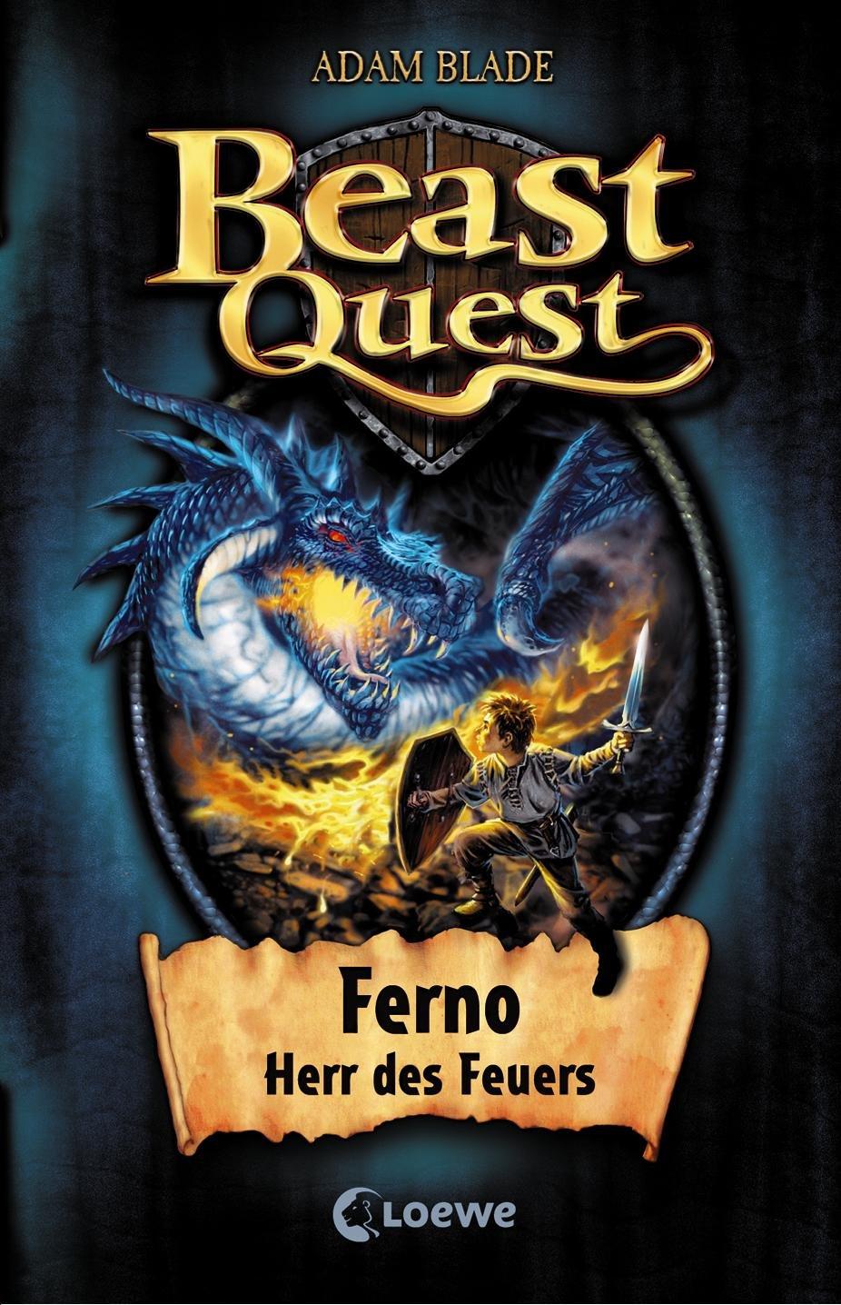 Beast Quest 01 Ferno Herr Des Feuers Amazon Co Uk Blade Adam Wyatt David Wiese Petra 9783785561553 Books