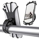 ORIbox Bike Phone Mount, Detachable 360° Rotation Motorcycle Phone Mount with Adjustable Universal Silicone Handlebar Cradle