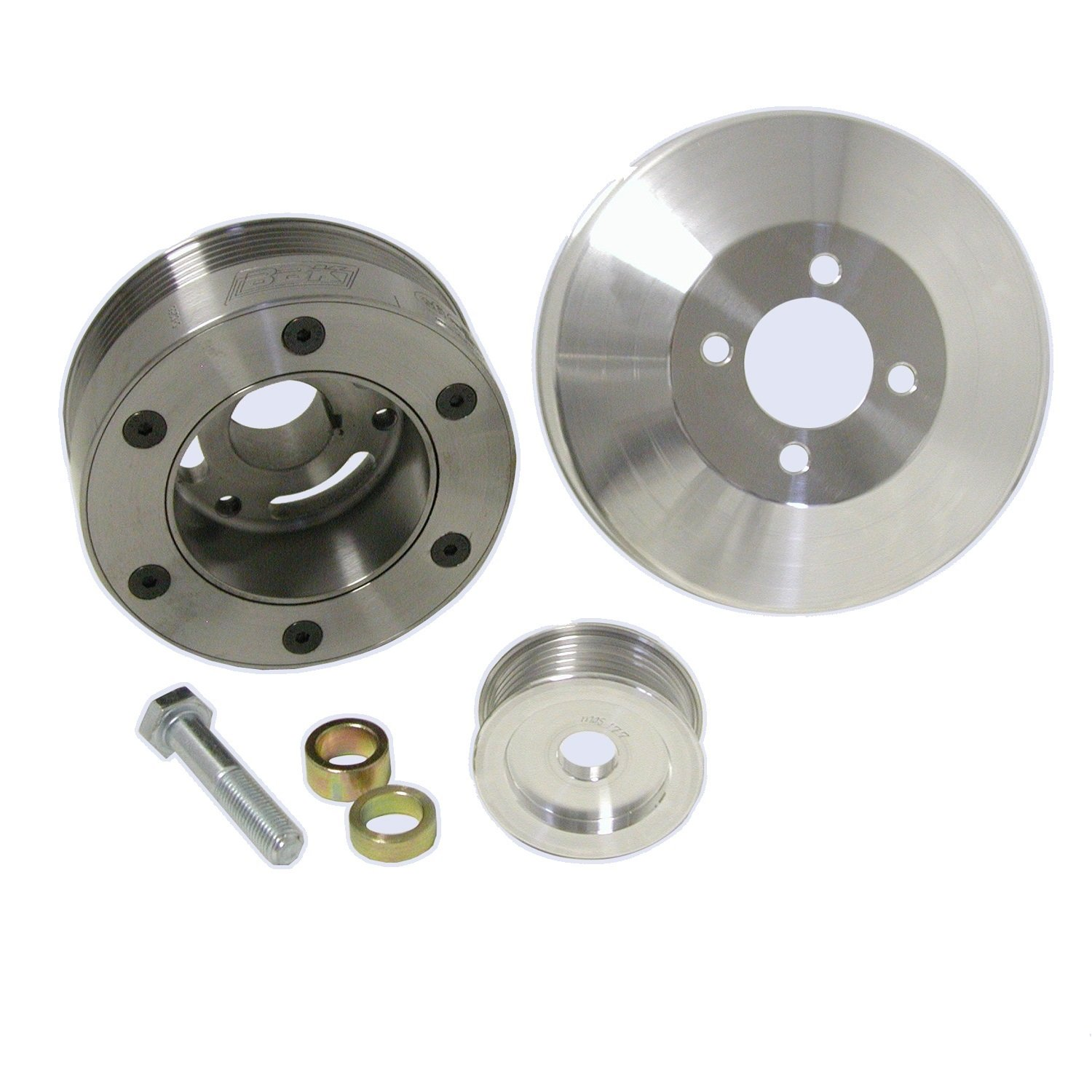 BBK 1564 Underdrive Pulley Kit for Ford Mustang GT/Cobra 4.6L - 3 Piece SFI Approved Crank Pulley Plus Aluminum WP and Alt