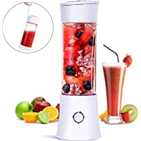 Portable Blender, Fityou Juicer Blender Smoothie Maker with 6 Stainless Steel Sharp Blades USB Rechargeable Juice Mixer 100W 480ML Mini Personal Fruit Blender for Home,Office,Sports,Travel, Outdoors