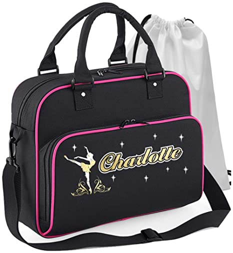 Personalised Custom Dance Bag /& Drawstring Shoe Backpack MusicaliTee Ballet Dancer Dancing Girl Flowers