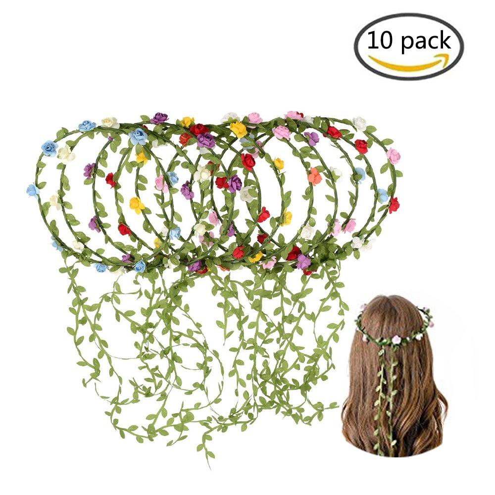 Hot sale kaptin 10 pack multicolor flower crown headband women girl hot sale kaptin 10 pack multicolor flower crown headband women girl fashion floral crown garland izmirmasajfo