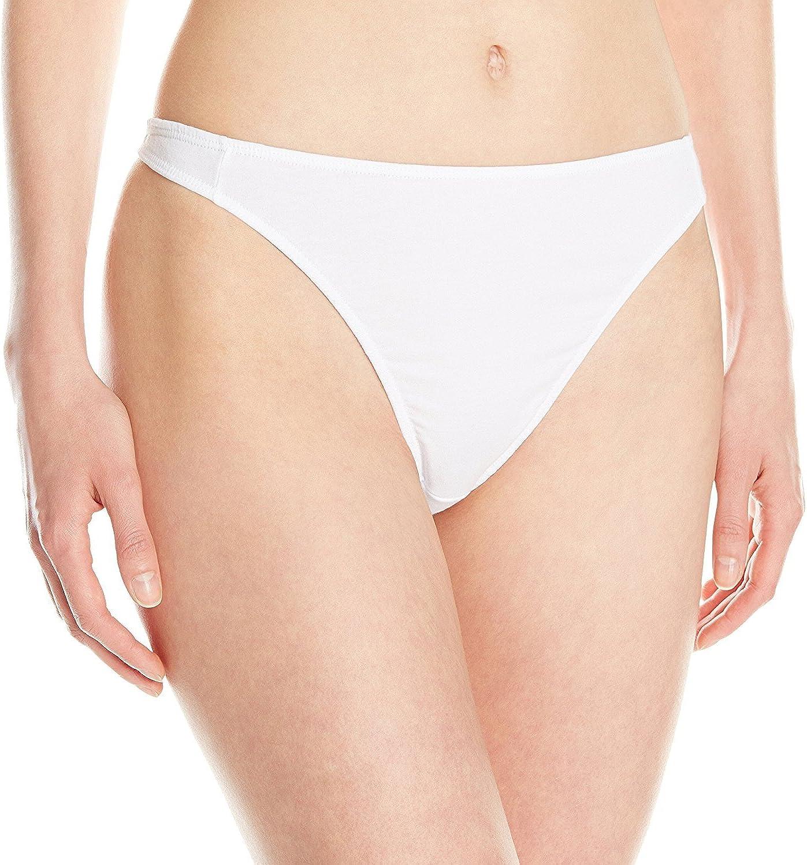 XL, White Elita 1200 Les Essentials Waist-High Thong Panty