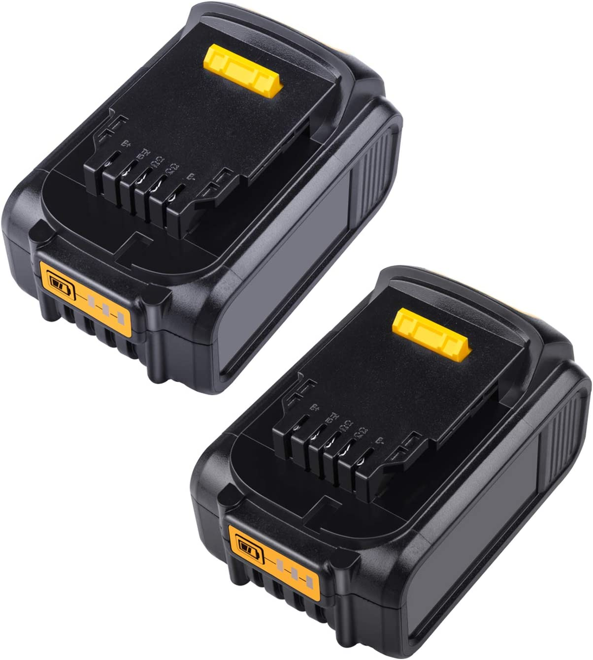 2Pack Replacement for Dewalt 20V Lithium Battery MAX DCB180 DCB181 DCB200 DCB200-2 DCB201 DCB203 DCB204 DCB204BT-2 DCB205 DCB205-2 DCD985B DCD771C2 DCS355D1 DCD790B