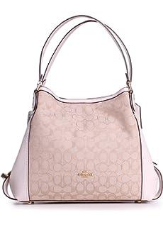 b0e546e1630ff Amazon.com: Coach Edie 31 Signature Rose Shoulder Bag in Charcoal ...