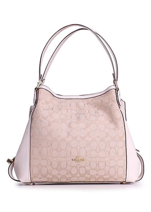 COACH Signature Edie Shoulder Bag 31 in Signature Jacquard  Amazon ... 5b335551be853