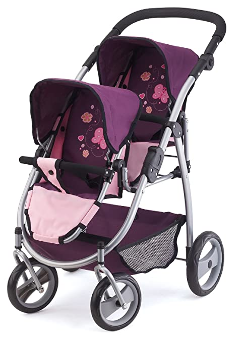 Bayer Design Cochecito de Gemelos, Buggy Color Rosa, Lila 73 x 63 x 46