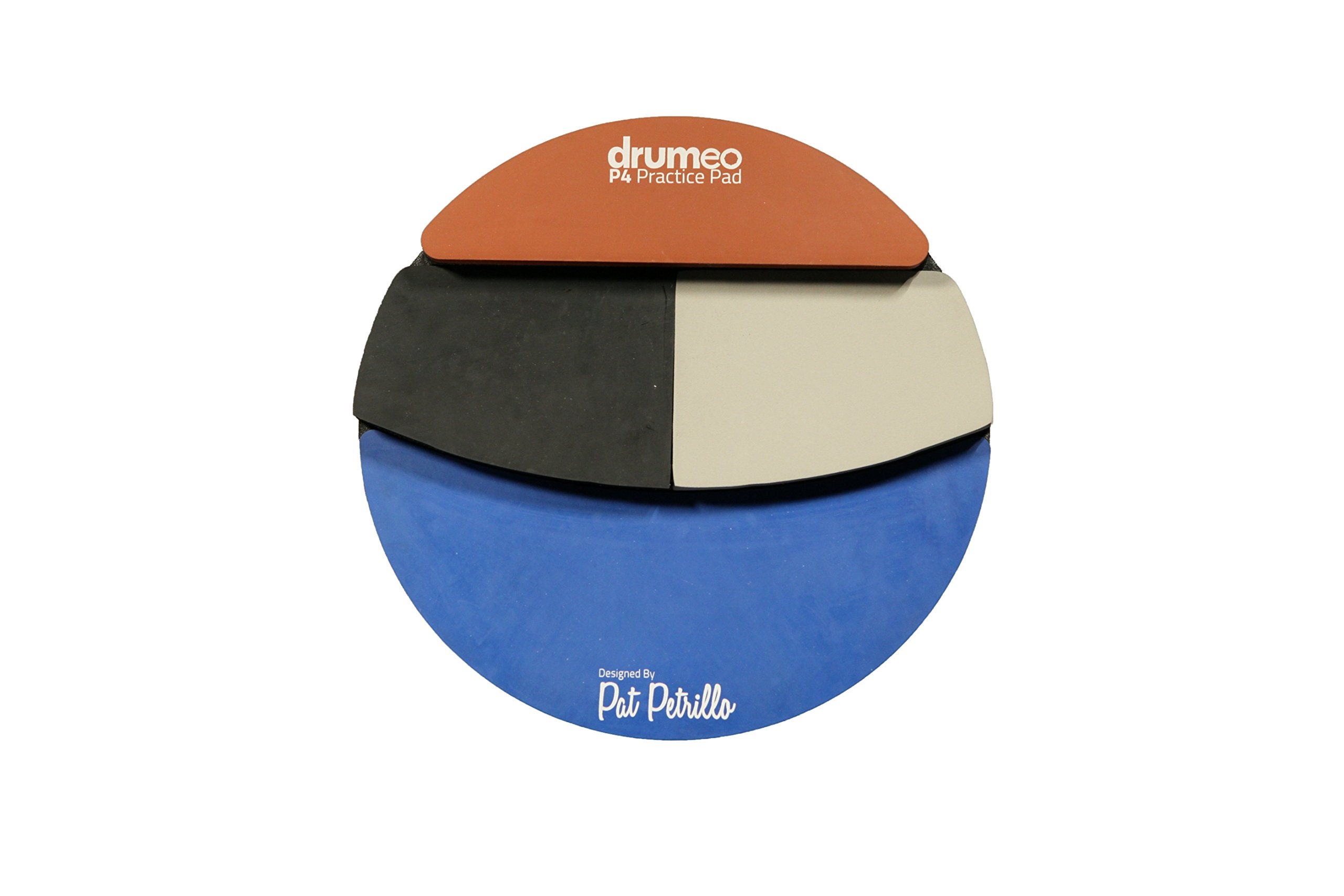 The Drumeo P4 Practice Pad - Four Different Playing Surfaces by Drumeo