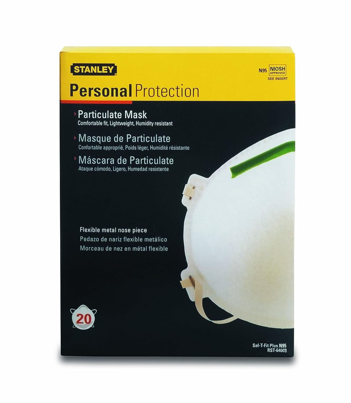 stanley n95 particulate respirator masks 20-pk