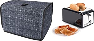 "Toaster Cover, 2 Slice Toasted Bread Machine Dust Cover, Cotton Quilted Two Slice Toaster Appliance Cover, Dust And Fingerprint Protection, Machine Washable, 11.5""L x8""W x 8""H"