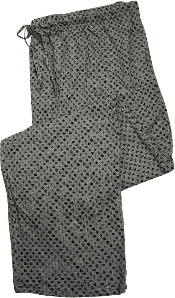 Hanes Mens Hashtag Printed Knit Sleep Pajama Pant, Grey 39931-Small