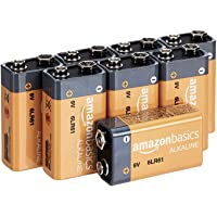 8-Pack AmazonBasics 9 Volt Everyday Alkaline Batteries