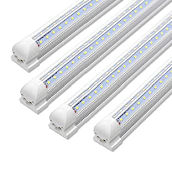 Pack Of 50 4ft Led Shop Light Linkable T8 Integrated Fixture