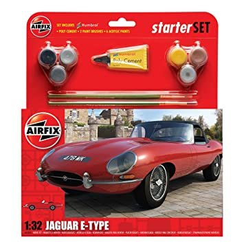 Airfix Jaguar E Type Starter Gift Set 1 32 Scale Airplanes