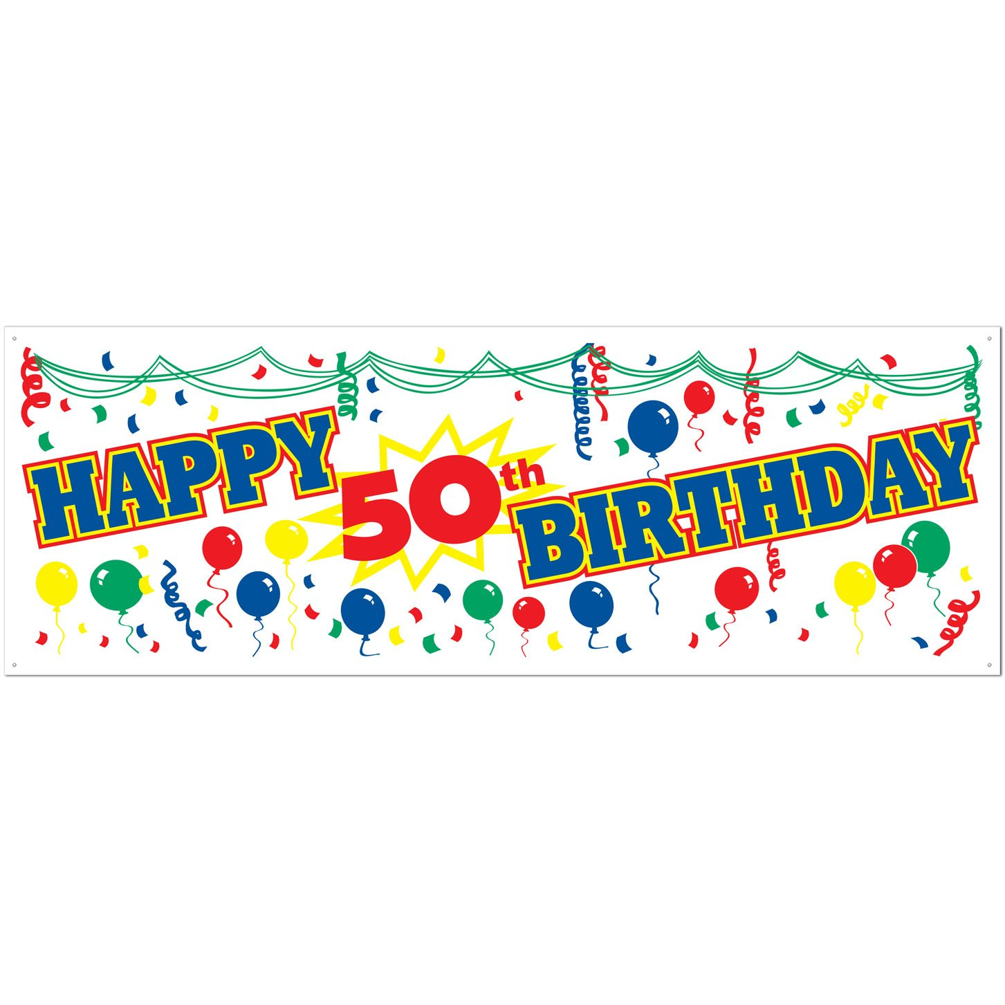 amazon com happy 50th birthday sign banner party accessory 1 count