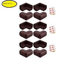Generic Thick Rubber Cushions Table Corner Guard protector for Baby (Brown)