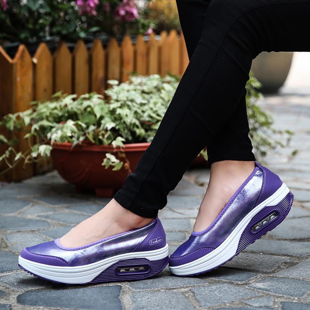 new arrival 78659 5b5b8 Overdose-Chaussures Platform Trainers Femme Tennis à Enfiler Pas Cher  Baskets à Talons Plates Soldes Agrandir l image
