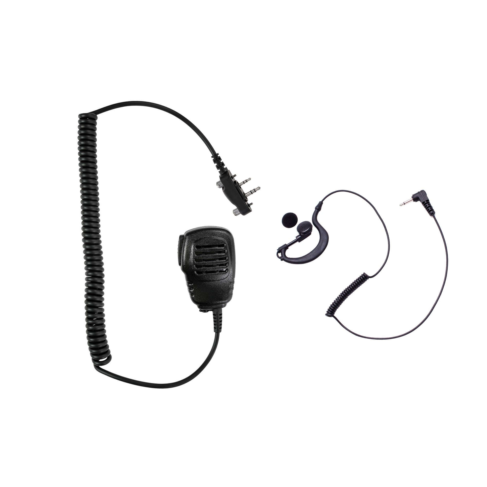 Maxtop APM100ARP03-I2 Light Duty Shoulder Speaker Microphone + G-Shape Listen Only Earpiece for ICOM
