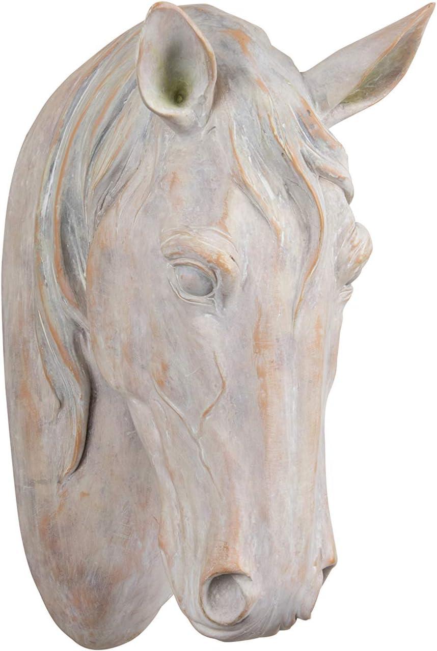 Wall Mount Horse Head Metal Decor