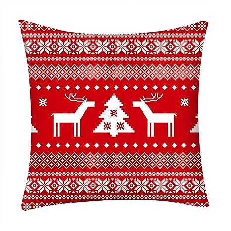 Zarupeng Merry Christmas Cuadrado Fundas de Almohada 45x45 ...