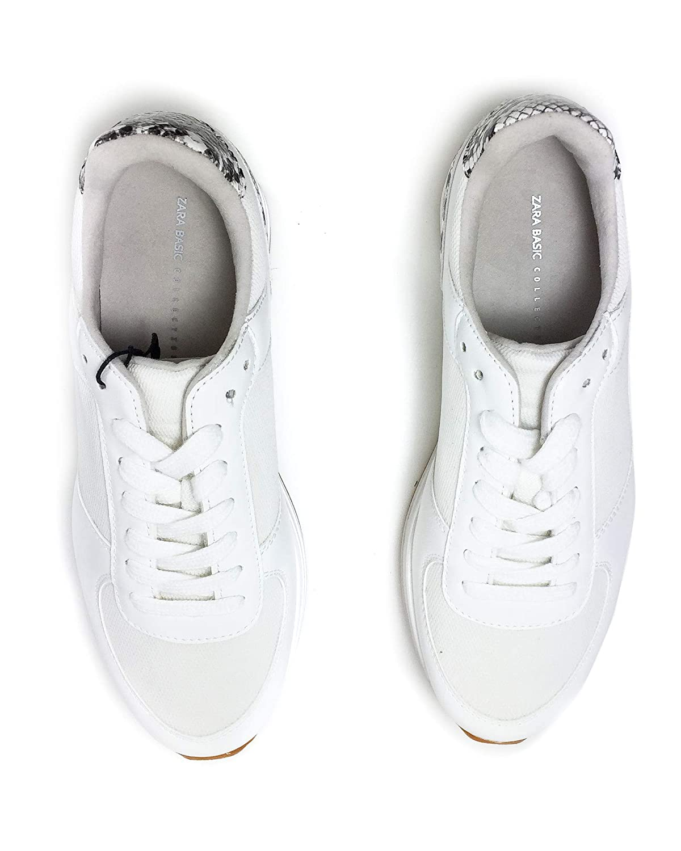 Zara Women Animal print platform sneakers 2410//001//001