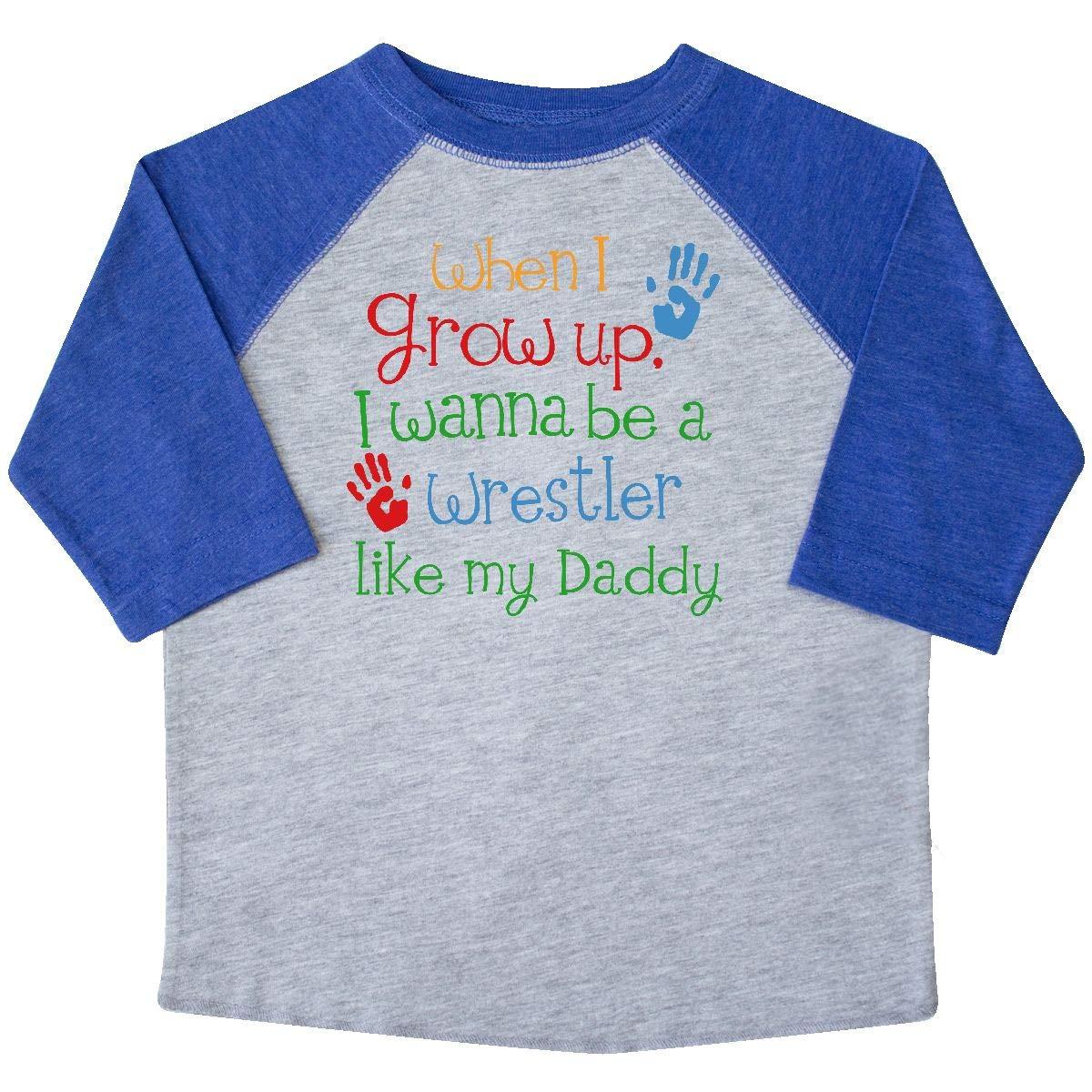 inktastic Wrestler Like Daddy Toddler T-Shirt