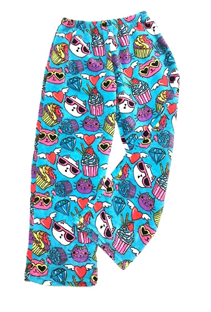 Confetti and Friends Girl/'s and Boys Fuzzy Plush Fleece Pajama Pants Sizes 5//6 to Junior Small