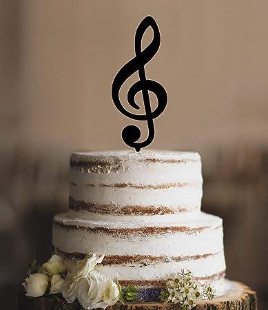 Music Note Wedding Cake Topper Music Cake Topper Music Wedding Theme
