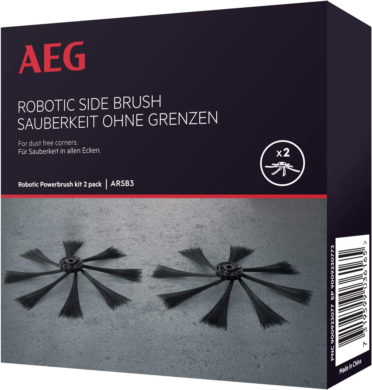AEG ARSB3 Pack de 2 cepillos Laterales PowerBrush, Compatible con ...