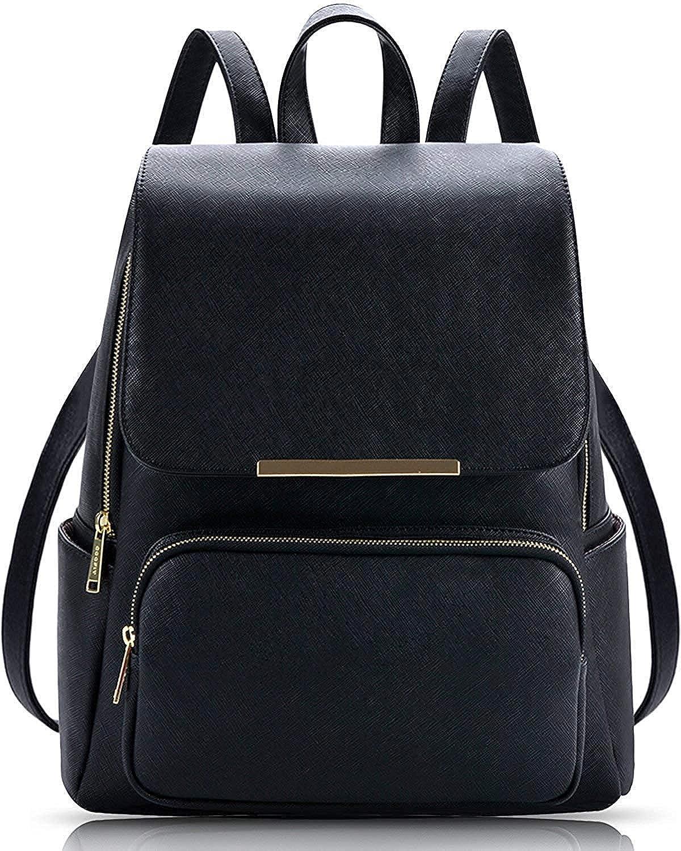 Levent Black Casual Backpack Stylish Girls School Bag College Bag Casual Backpack Handbag girls synthetic Backpack Shoulder Bag Black(lb322)
