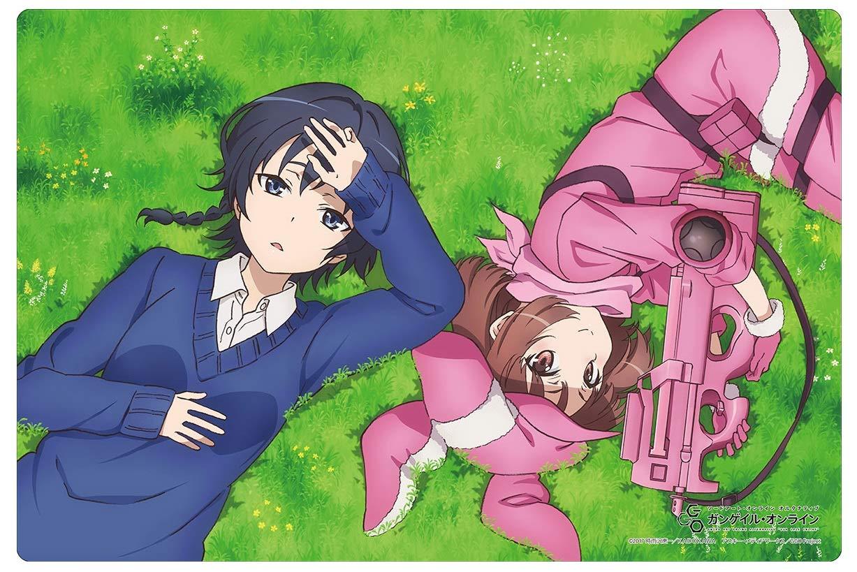 Sword Art Online GGO Alternative Llenn & Karen Card Game Character Rubber Play Mat Collection Vol.218 SAO Anime Art