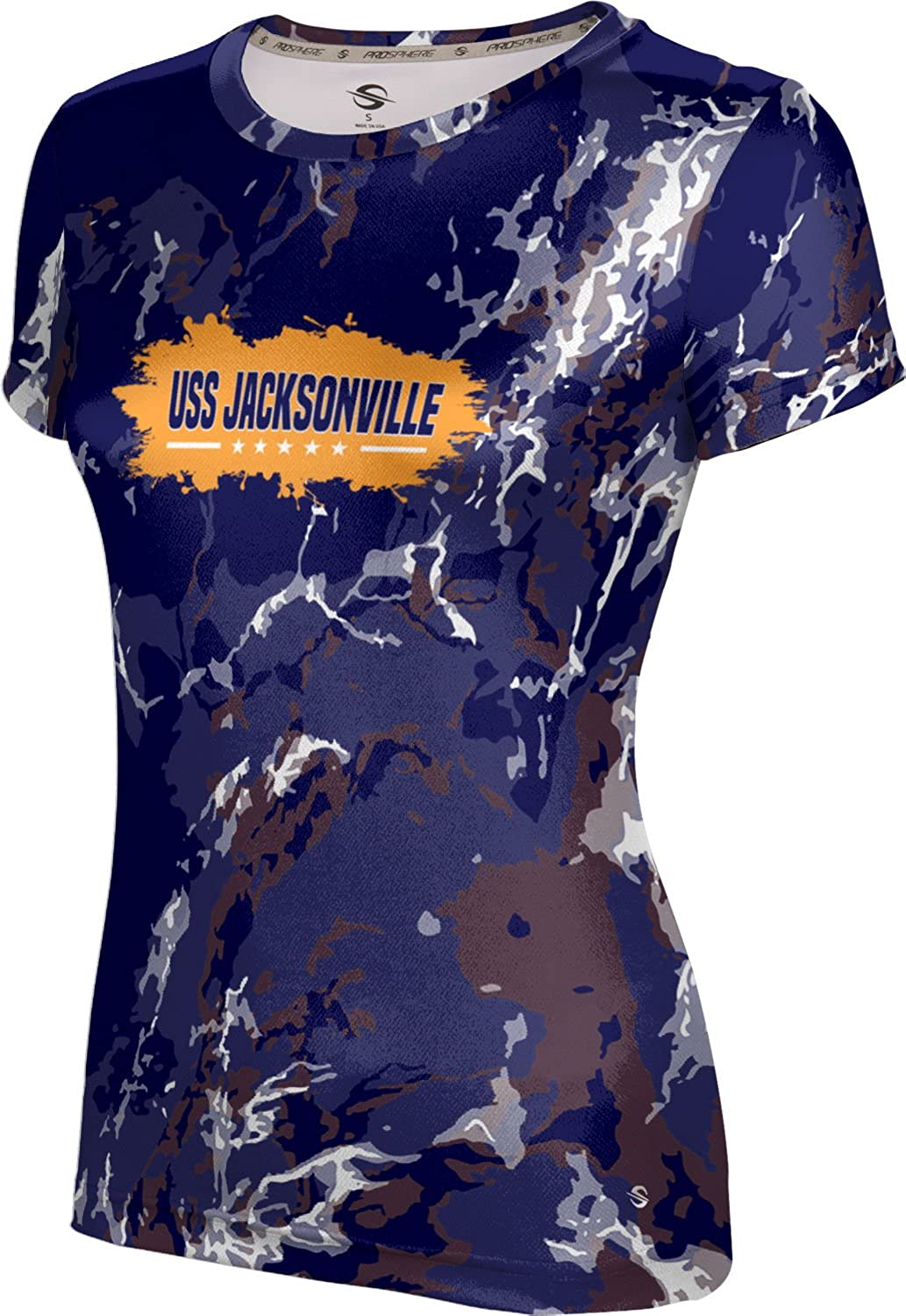 ProSphere Women's USS Jacksonville Military Marble Tech Tee