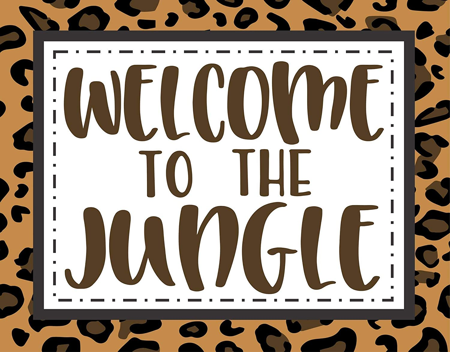 Home Dcor Handmade Products Welcome to the Jungle Metal Wreath ...