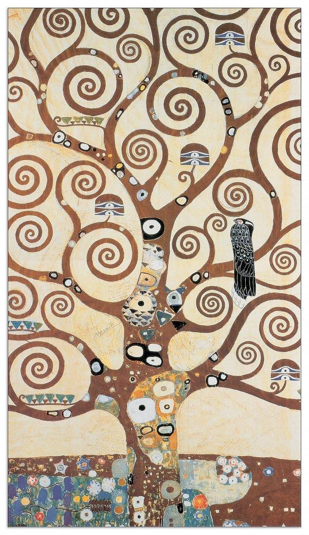 Artopweb Pannelli Decorativi Klimt The Tree Of Life Quadro, Legno,, 50x1.8x100 cm Eclissi EC22078 stampe; quadri