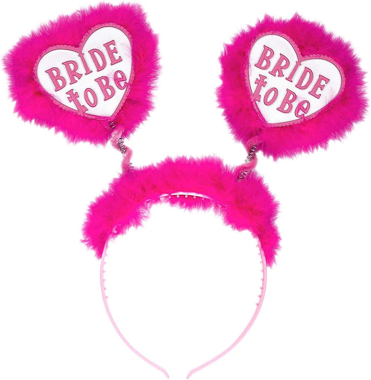 WIDMANN Bride to Be Head Boppers White Random Style /& Theme Hats Caps /& Headwear for Fancy Dress Costumes Accessory
