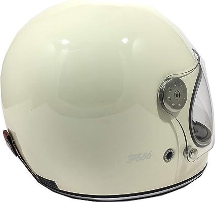 6162 CM VIPER MOTO F656 Vintage in fibra di vetro del motociclo Retro Cruiser Crema Per Uomo CREMA XL selettore rotante Bobber Casco Gringo ECE Approved