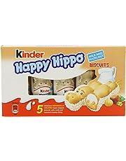 Kinder Happy Hippo Hazelnut 5 x 103.5 g (Pack of 10, Total 50 Bars)