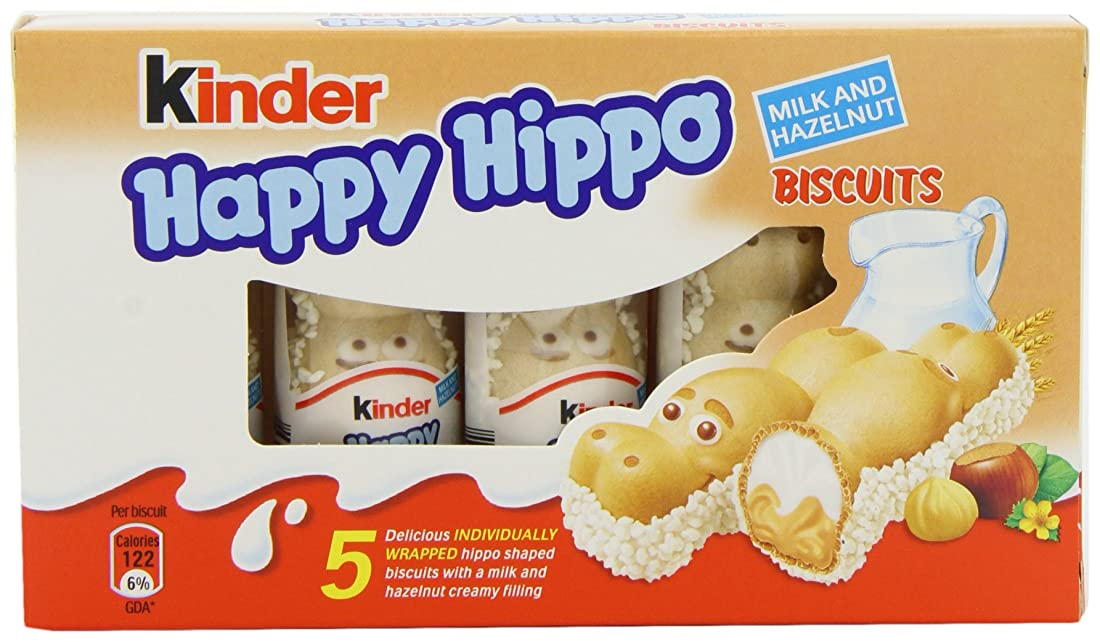 Happy hippo kinder  hazelnut 5 x 103.5 g (pack of 10, total 50 bars) B00498WMYQ