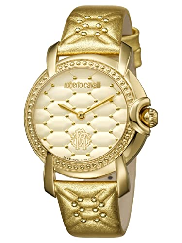 Amazon.com  Roberto Cavalli by Frank Muller QUILTED IP Gold ... 2b6d05b4f37