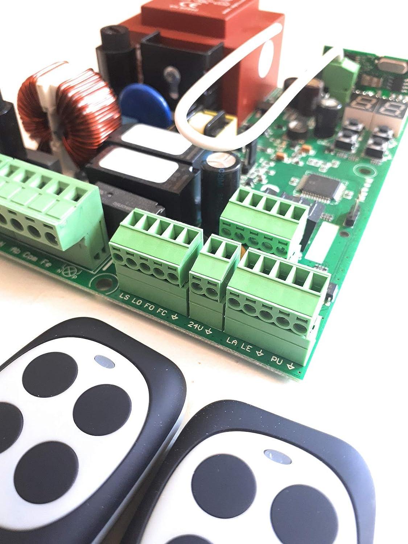 Kit Central de maniobras universal con anti-aplastamiento para motores puertas correderas monofasicos a 220v hasta 1000w, con 2 mandos a distancia. alta seguridad.: Amazon.es: Bricolaje y herramientas