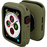 elkson Compatible with Apple Watch Series 6 SE 5 4 Bumper case Cover 44mm iwatch Quattro Series Cases Fall Protection Durable