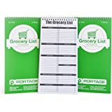 """(3 Pack) - Portage Grocery List Notebook - 4"""" x 8"""" Grocery Shopping Notepad - Stay Organised and Never Forget an Item Again - 140 Pages (3 Pack)"""