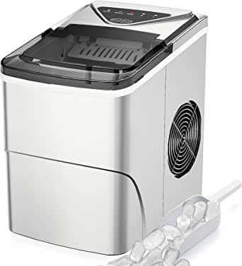 Ice Makers Appliances FOOING Ice Maker Countertop Self-Cleaning ...