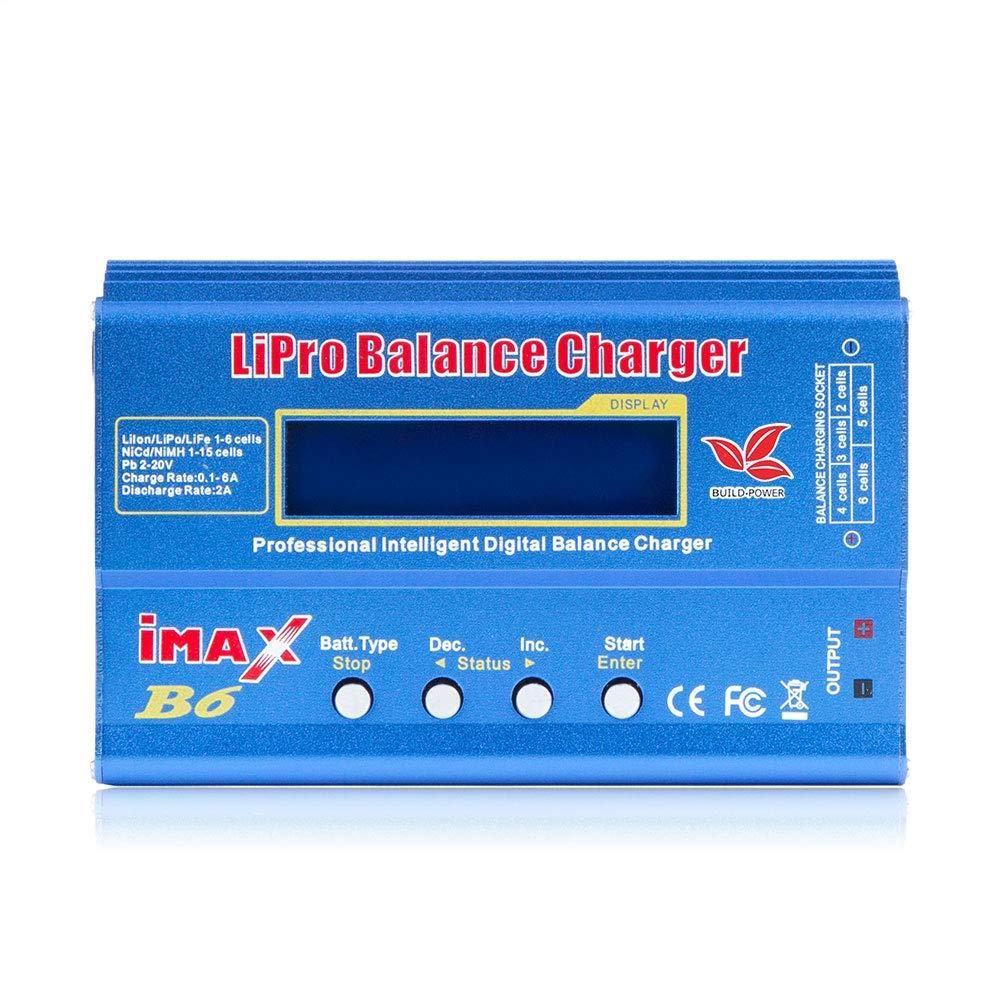 TOOGOO Imax B6 12V Cargador De Batería 80W Lipro Cargador De Equilibrio Nimh Li-Ion Ni-CD Cargador RC Digital 12V 6A Cargador Adaptador De Potencia ...