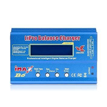 XZANTE Imax B6 12V Cargador De Batería 80W Lipro Cargador De Equilibrio Nimh Li-Ion Ni-CD Cargador RC Digital 12V 6A Cargador Adaptador De Potencia ...